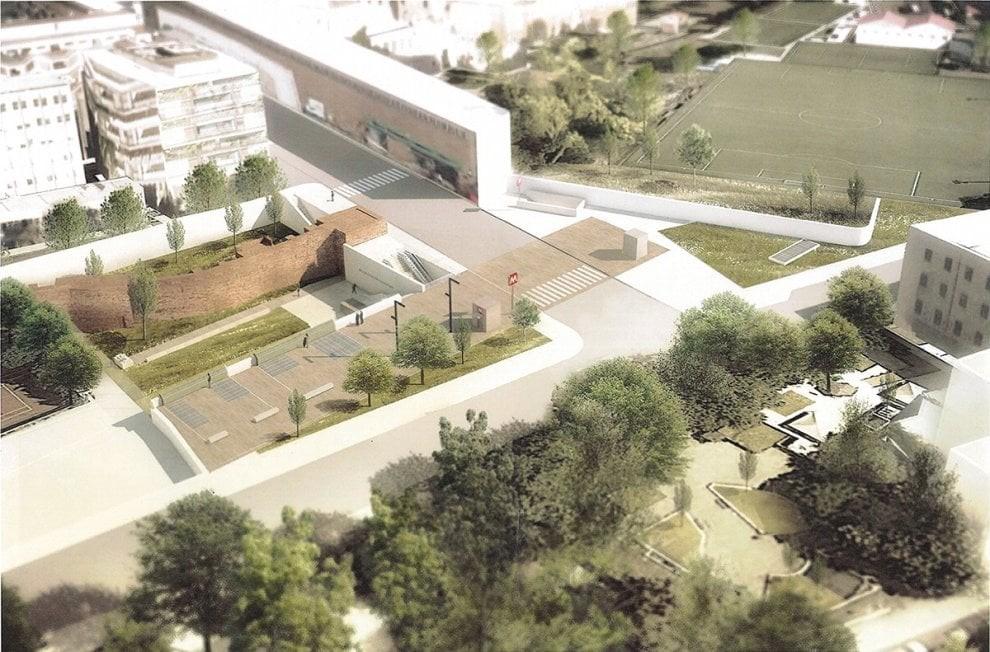 """La futura stazione della Metro Linea C """"Amba Aradam - Ipponio"""" adiacente al Campo Roma"""