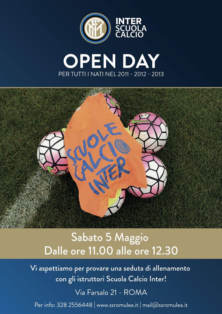 OPEN DAY SCUOLA CALCIO INTER 5 MAGGIO