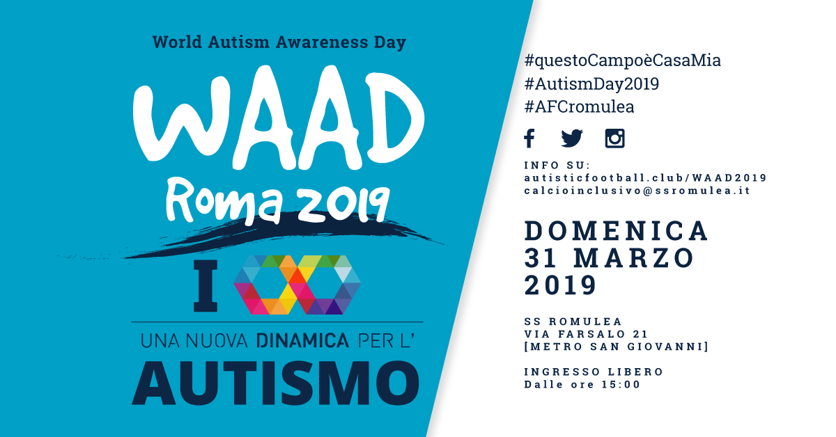 WAAD 2019 – Domenica 31 Marzo Al Campo Roma