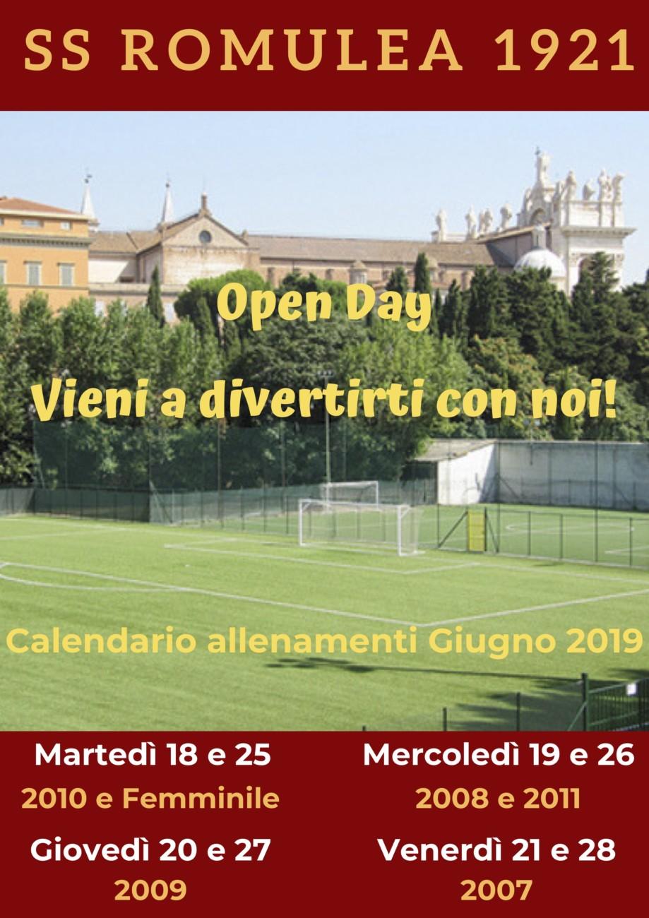 Open Days Suola Calcio – Porte Aperte Alla Romulea
