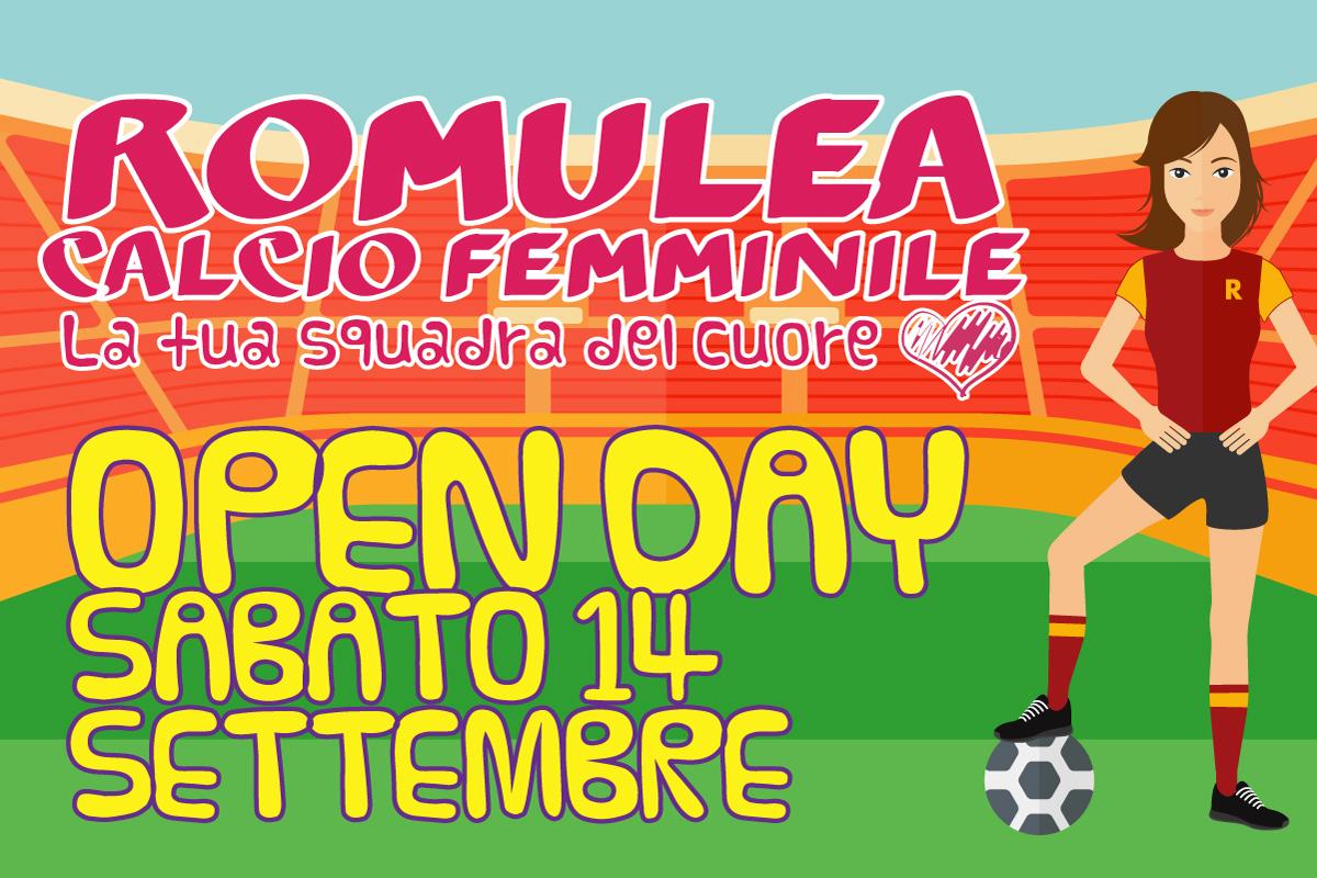 Open Day Femminile 14 Settembre