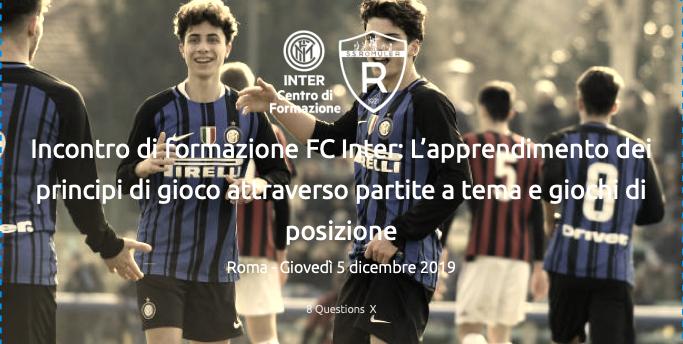 Incontro Di Formazione FC Inter: L'apprendimento Dei Principi Di Gioco Attraverso Partite A Tema E Giochi Di Posizione