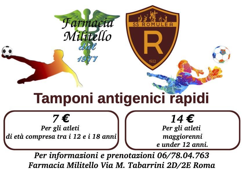 Convenzione Farmacia Militello Per Tamponi Rapidi 7€